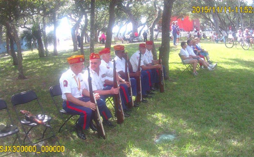MCL Detachment 658 Honor Guard Veterans Day PonceInlet